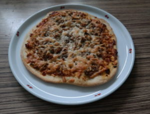 leckere Thunfisch-Pizza